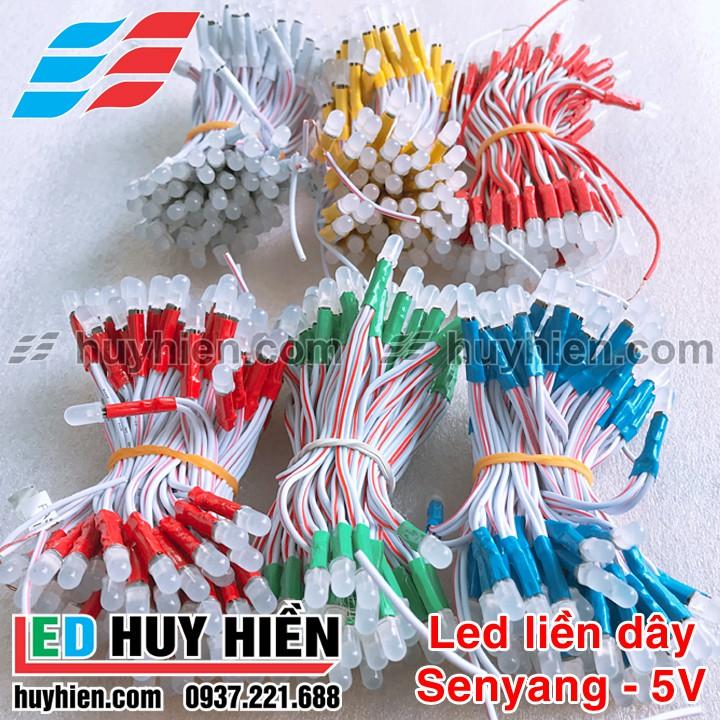 Bóng Led liền dây 100Led 5V các màu đơn sắc _ Led liền dây 5V dây đồng 100Led chất lượng