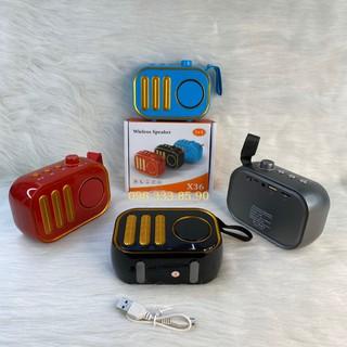 Loa Mini Cầm tay X36 Bluetooth Nghe nhạc cực hay có hỗ trợ Thẻ nhớ, Jack 3.5mm thumbnail