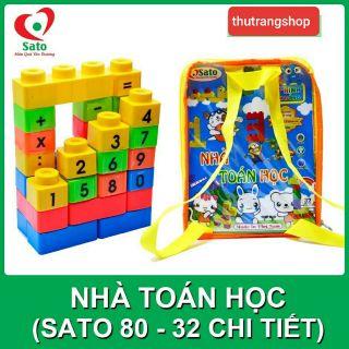 Xếp hình nhà toán học nhí đồ chơi nhựa an toàn SATO