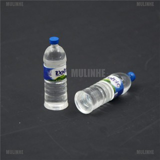 2pcs Bottle Water Drinking Miniature DollHouse 1:12 Toys Accessory Collection [MULINHE]
