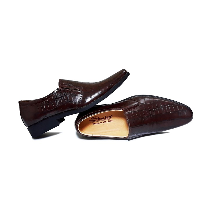 Giày Nam Da Bò Thật - Vân Cá Sấu Cao Cấp Simier SM28