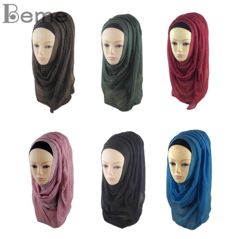 Latest Bone Headwear Modal Full Cover Under Womens Cap Neck Cover Bonnet Ladies Turban Head Wrap Hijab Voile Scarf Hat
