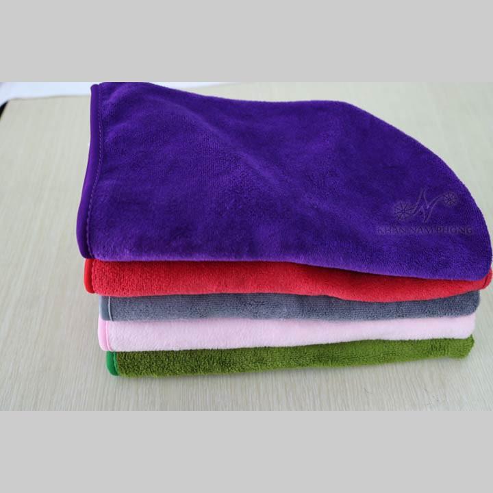 [GIẢM GIÁ SỐC] Khăn Trùm Tóc Microfiber Nam Phong màu tím giúp tóc khô nhanh siêu Tốc