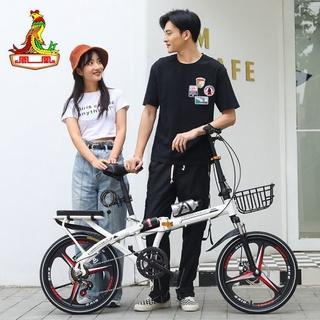 Xe đạp gấp Phoenix dành cho nam và nữ người lớn đi làm phanh đĩa tốc độ biến đổi 20 inch Xe đạp học sinh 16 inch di động