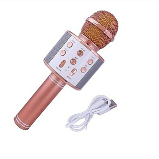 Micro 2 trong 1, micro karaoke kèm loa bluetooth WS858 thumbnail