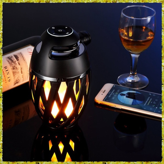 Colourful LED Flame Bluetooth Speakers with HD Audio and Enhanced Bass