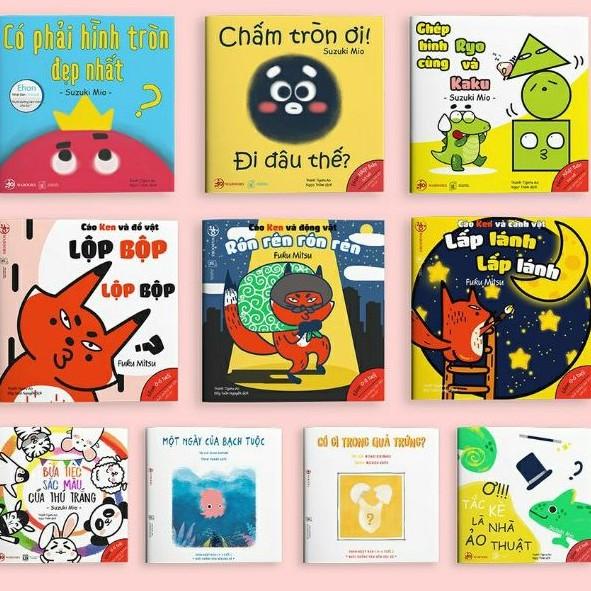 [Mã BMHOT11 giảm 15% đơn 99K] Sách - Combo 10 quyển Ehon Hình khối, màu sắc, âm thanh - Ehon Nhật Bản Wabooks.