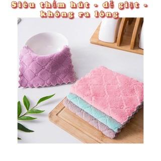 Khăn Bông Lau Bếp, Lau Tay, Lau Chén Bát - Khăn Vệ Sinh Đa Năng 2 Mặt Siêu Thấm Hút - shop8868 thumbnail