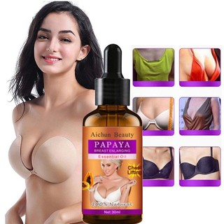 [Có Hàng Sẵn] Aichun Tinh Dầu Nở Ngực Chiết Xuất Trái Đu Đủ Papaya Breast Enhancement Oil 30ml (Có Che Tên)