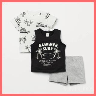 Bộ cộc tay HM bé trai – Quần áo trẻ em Sumin Kids – 3 chi tiết – Chất cotton