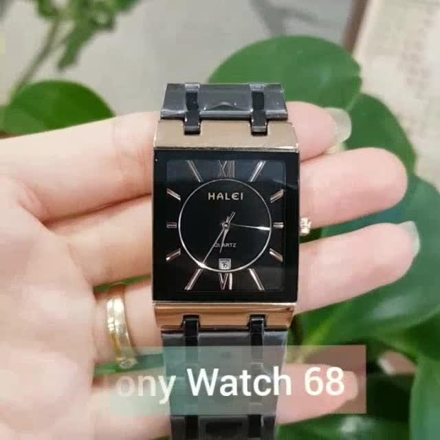 Đồng hồ nam HALEI đen mạ đồng CHỐNG NƯỚC CHỐNG XƯỚC TUYỆT ĐỐI