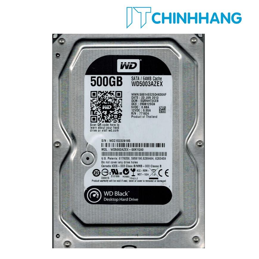 Ổ cứng gắn trong HDD WD 500GB - SATA3 2 NHÂN (BLACK) - HẪNG PHÂN PHỐI CHÍNH THỨC