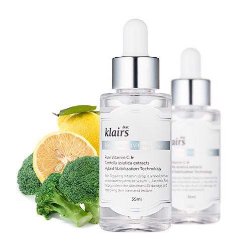 ( Có sẵn ) Tinh chất sáng da Klairs Freshly Juiced Vitamin Drop Serum