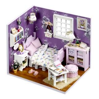 Đồ Chơi Mô Hình Nhà Gỗ Diy Cute Room No H001 ( Tặng Kèm Mica + Keo+ Bộ Dụng Cụ Kit)