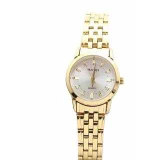 (BIG SALE) Đồng hồ nữ Halei mặt trắng dây vàng chống nước