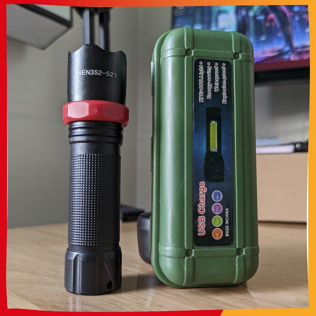 Đèn Pin Siêu Sáng Mini CÓ ZOOM Sạc Bằng Cổng USB Tiện Lợi Phù Hợp Chiếu Sáng Ban Đêm Đi Phượt Đi Dã Ngoại Tự Vệ