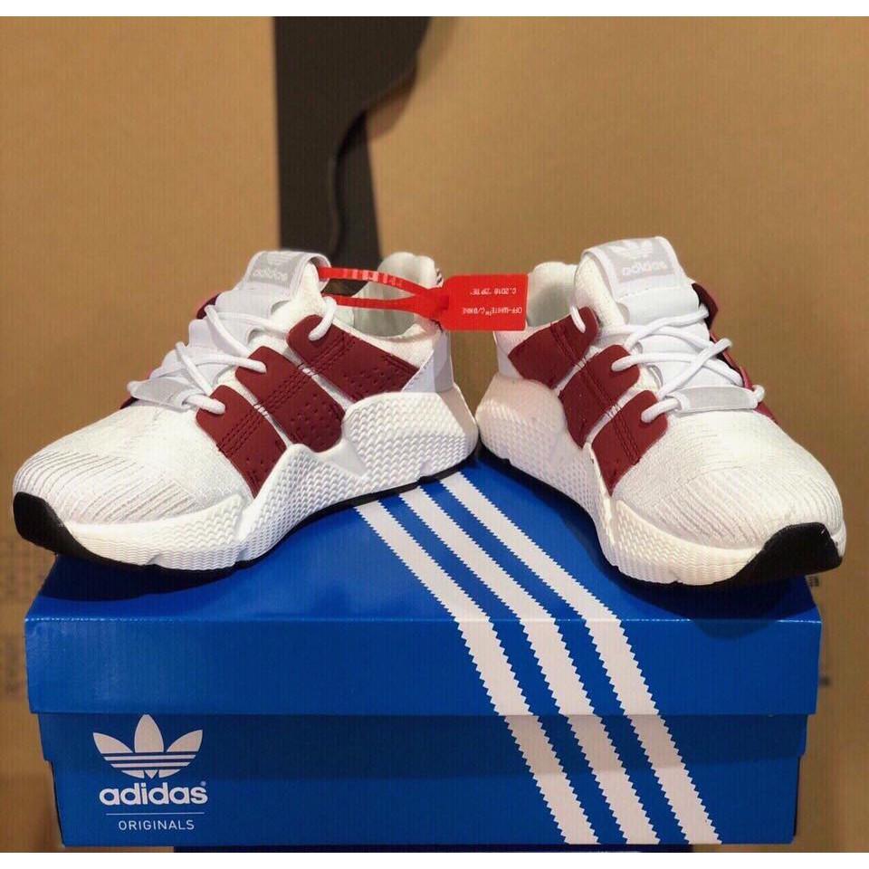 Giày Sneaker Prophere Trắng Sọc Đỏ
