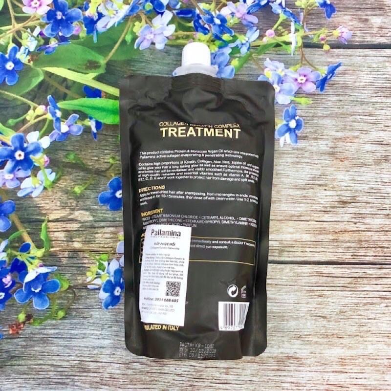Pallamina professional keratin collagen complex treatment Kem ủ Tóc Chính hãng 500ml italia