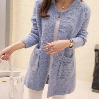 Áo Khoác Sweater Dệt Kim Dáng Rộng Xinh Xắn Cho Nữ