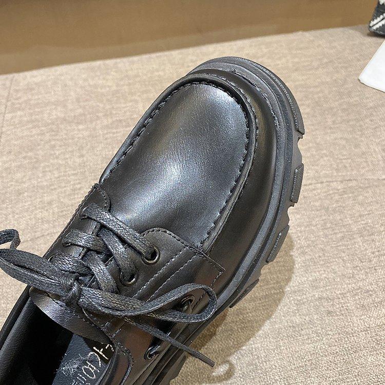 Giày Oxford Thắt Dây Phong Cách Anh Quốc Cho Nữ