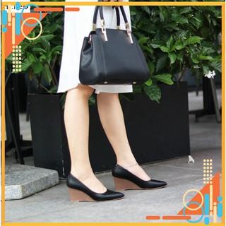 Giày nữ đế xuồng - giày công sở HT.NEO- kiểu dáng mũi nhọn sang chảnh tăng chều cao,siêu , đế xuồng 7 phân CS69 thumbnail