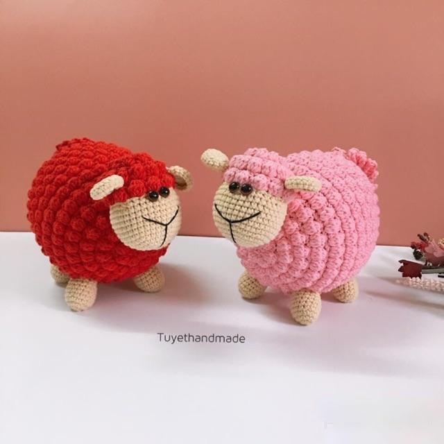 [ Gấu bông an toàn cho bé ] cừu thú bông len handmade