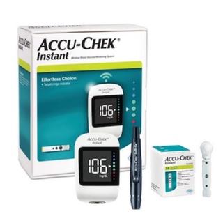 COMBO Máy đo đường huyết Accu-Chek Instant mg dL + Hộp 50 que thử. ( Hàng Chính H thumbnail