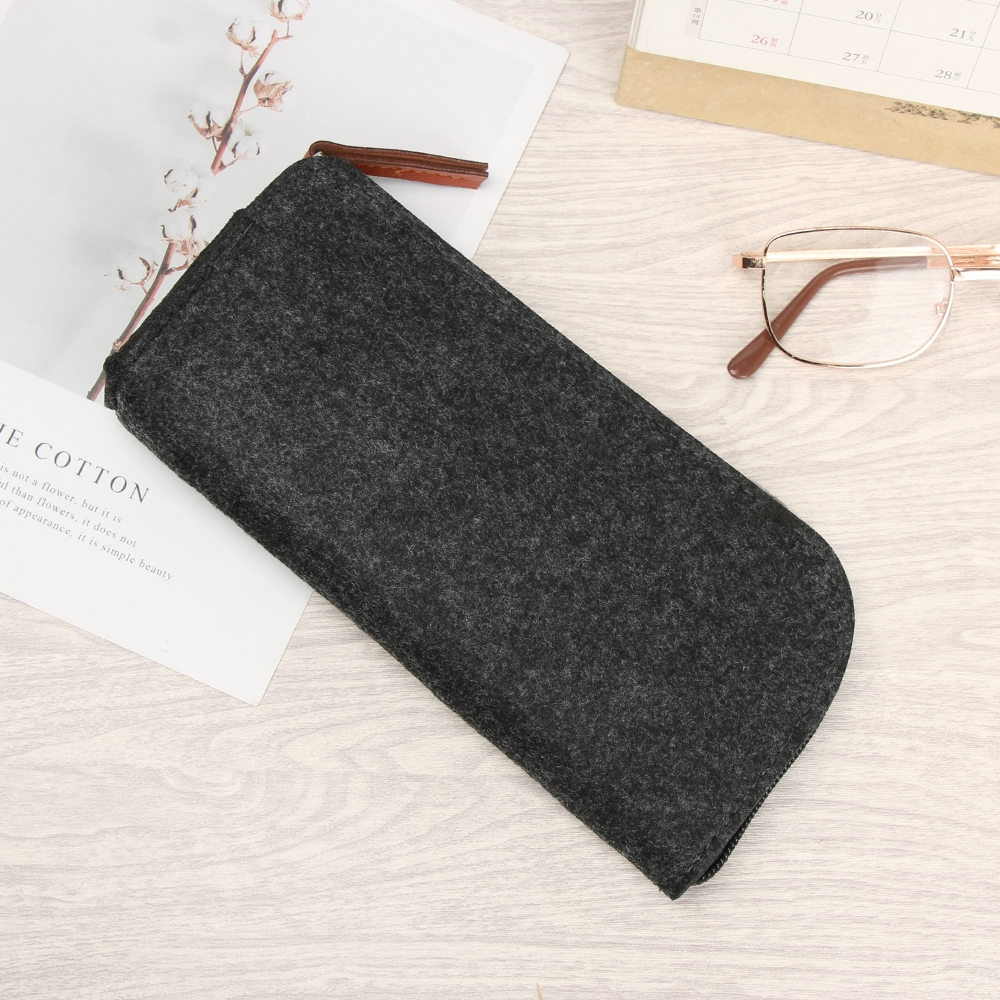 🎉ONLY🎉 Portable Multifunctional Zipper Soft Wool Felt Cloth Glasses Case Bag