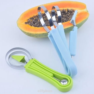 3pcs Multipurpose Watermelon Vegetable Tools Kitchen Gadget Core Removal Quickly Cut DIY Cold Dishes Fruit Diggers Set