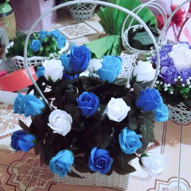 giỏ hoa lớn 22bông sỉ 100k