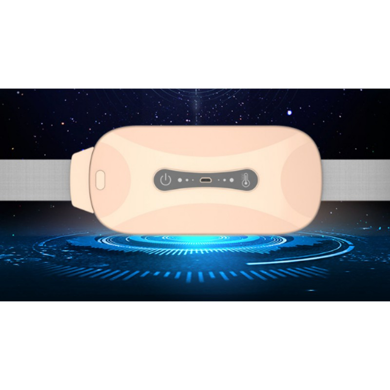 Đai massage bụng giảm mỡ 3 chế độ kết hợp thêm chế độ sửi ấm giảm đau kinh nguyệt bật tắt khi cần-Đai tan mỡ bụng Jinbao