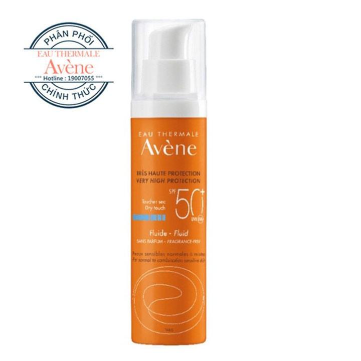 [Mã FMCGM100 - 10% đơn 500K] Kem chống nắng bảo vệ tối đa Very High Protection Fluid 50+ 50ml - Avene