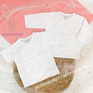 Áo dán sơ sinh cotton cao cấp – Màu trắng