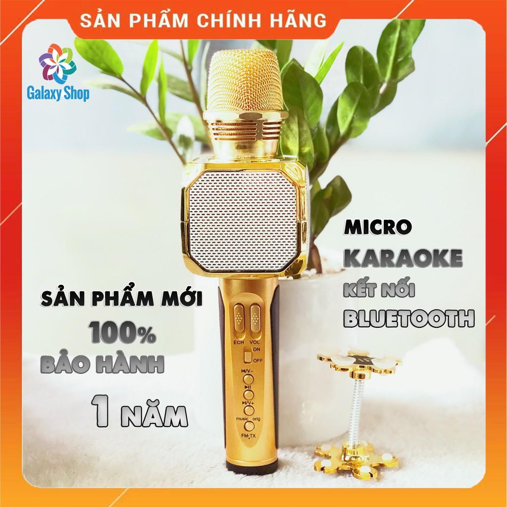 Míc hát bluetooth SD10 - cao cấp - âm vang - mic karaoke không dây kèm loa nghe nhạc