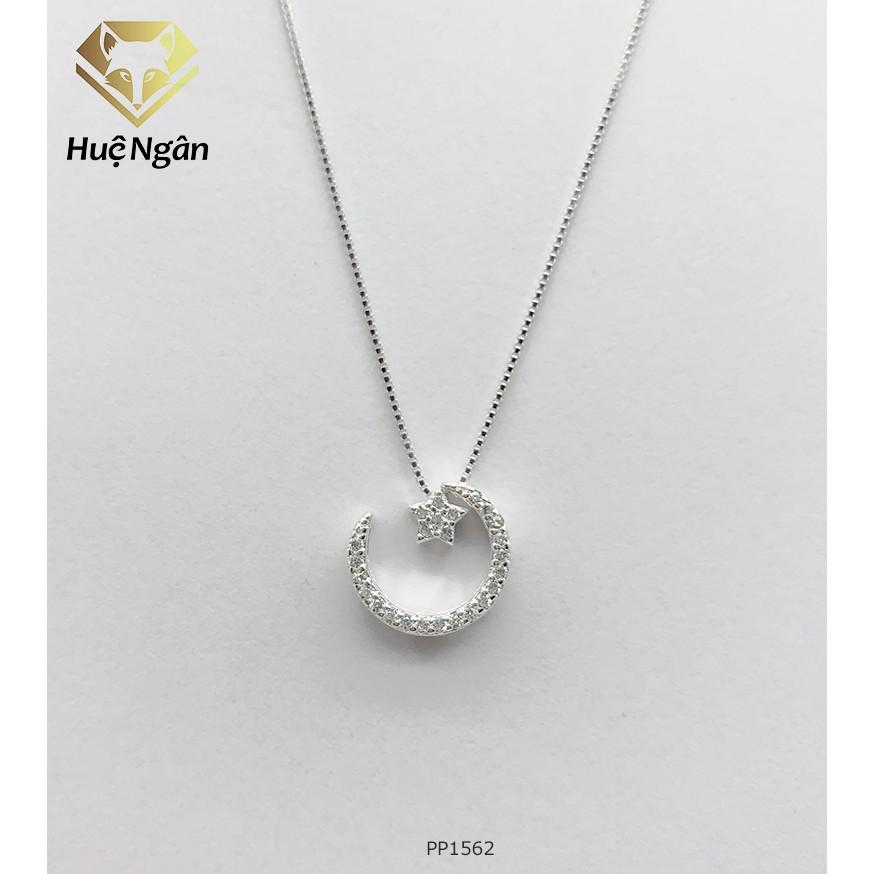 Dây chuyền bạc 925 Huệ Ngân - Trăng sao Star and Moon PP1562