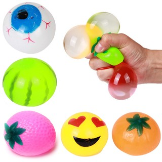 Anti Stress Reliever Fruit Animal Ball Autism Mood Squeeze Relief Toy Gift H29