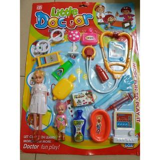 bộ đồ chơi bác sĩ y tá cho bé