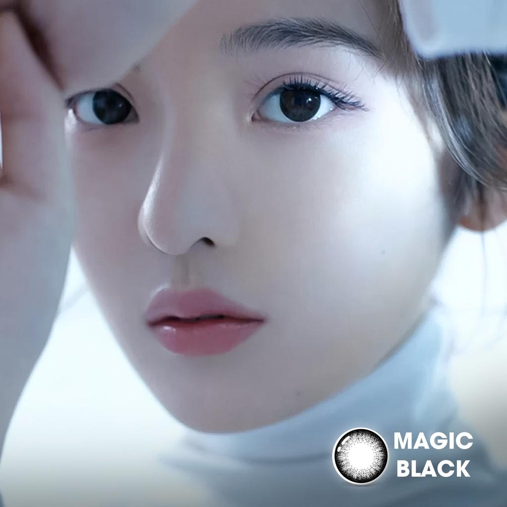 Lens cận màu đen tự nhiên MAGIC BLACK thương hiệu Angel Eyes có đường kính 14.0mm - Độ cận 0-6...