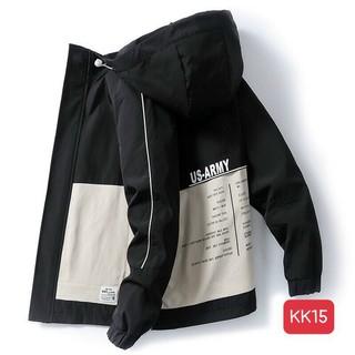 Áo Khoát Kaki Nam Hàn Quốc Cao Cấp Mẫu mới đẹp 3 Màu Xanh- Kem- Đen Chất Kaki Jean đẹp siêu bền