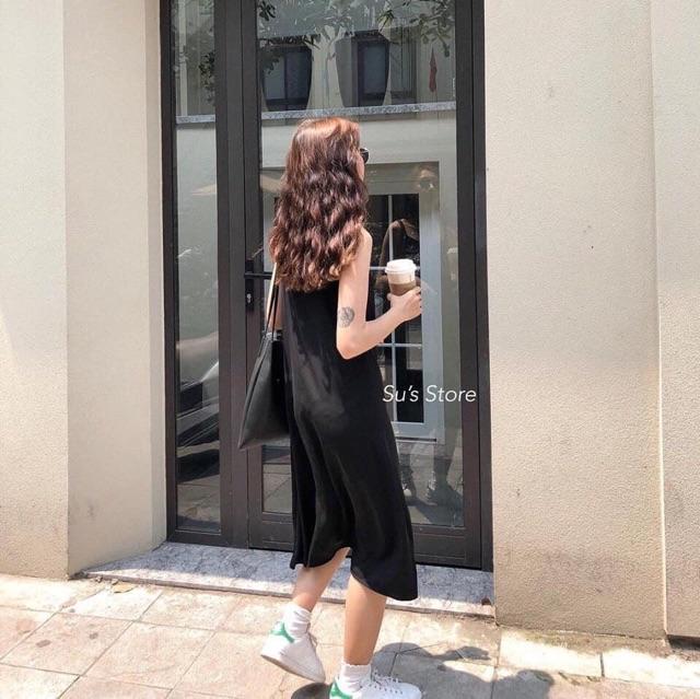 Đầm Nữ [FREESHIP] 🌸 Váy 2 dây đũi xuông - Đầm trơn basic nữ CỰC XINH 🌸