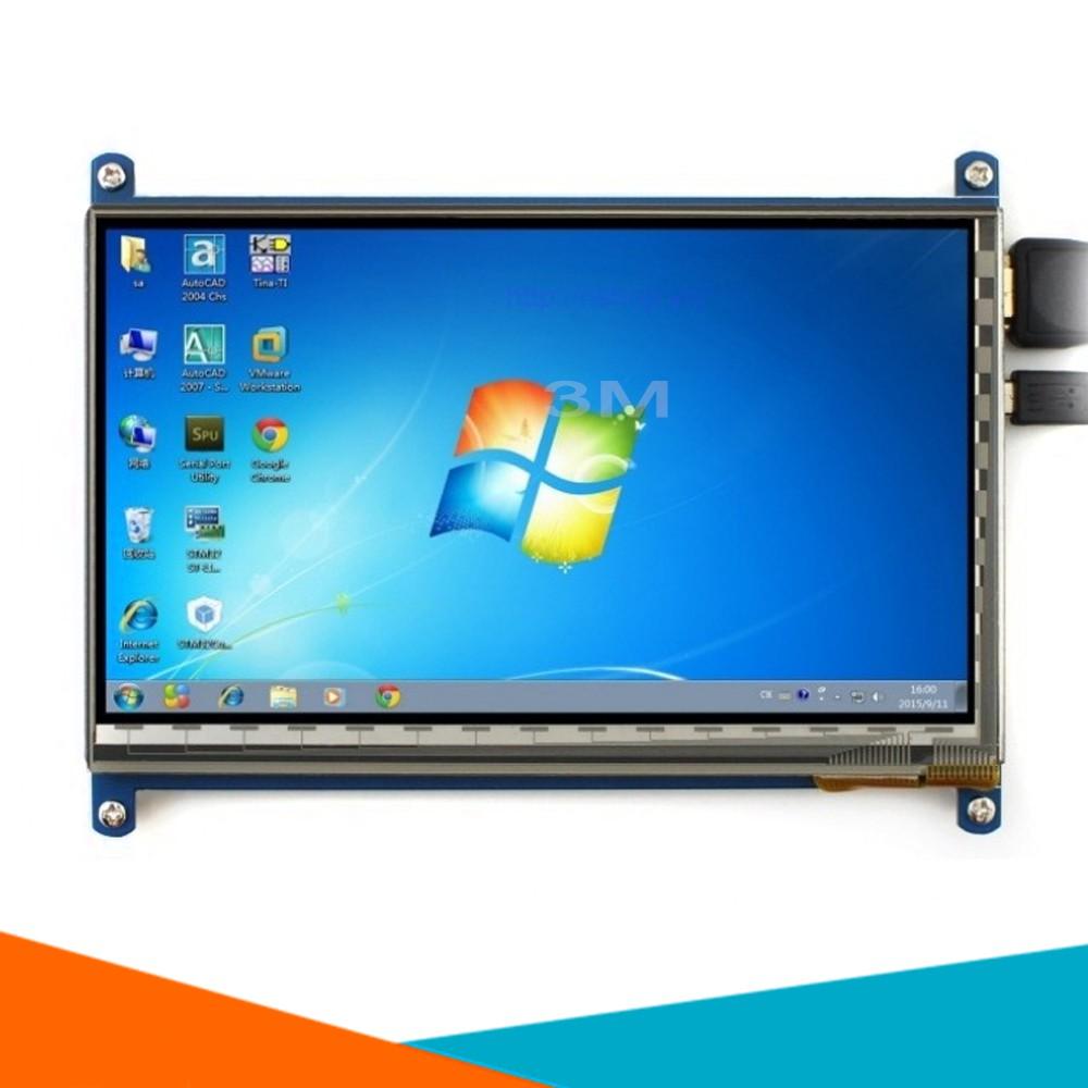 [Tp.HCM] Màn Hình Raspberry 7Inch HD 1024x600 Cảm Ứng Điện Dung (Tặng Đĩa, Cáp HDMI, Cáp USB )