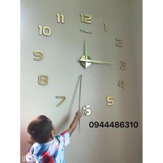 [BÁN LẤY TƯƠNG TÁC] Đồng hồ dán tường dạ quang siêu to