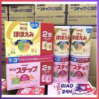 [Hàng Nhật] Combo 2 Hộp Sữa Meiji 800g Hàng Nhật Nội Địa Date Mới Nhất