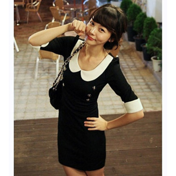 1284671021 - Đầm Váy, đầm dự tiệc shirt dress peter pan