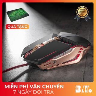 [Rẻ Vô Địch] Chuột chơi game Chuột ZUOYA 8 nút Smart Macro LED quang USB -dc2595 (Đen Vàng Iron) thumbnail