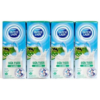 Lốc 4 hộp sữa tươi tiệt trùng Cô Gái Hà Lan các loại 180ml HSD 12/2020