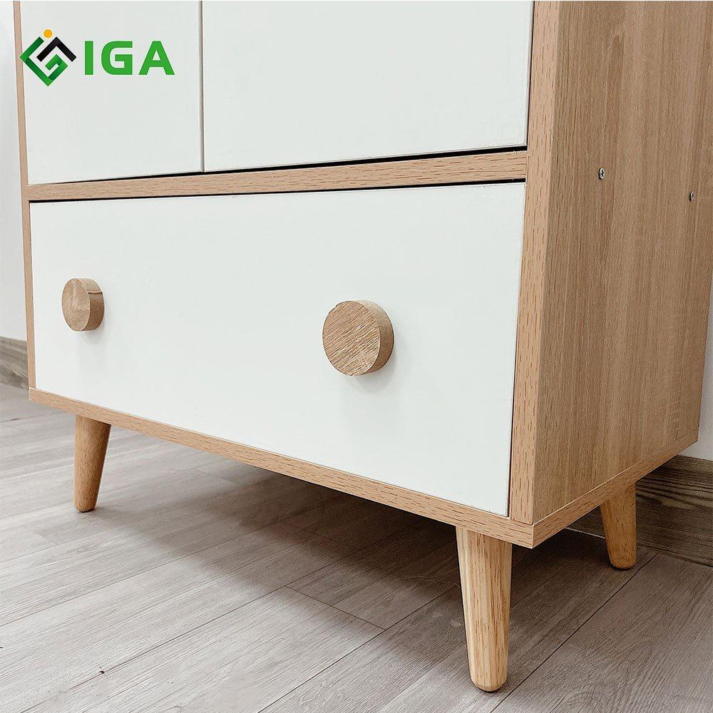 Tủ Quần Áo Trẻ Em IGA Bear Shelf  - GP123