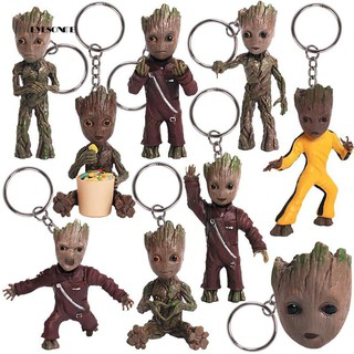 ♕Guardians of Galaxy Keychain Tree Man Groot Pendant Key Ring Holder Bag Decor