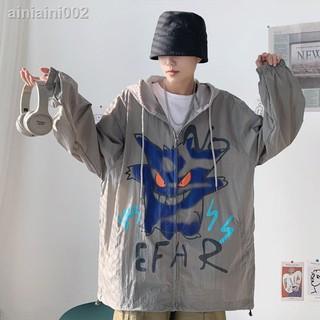 Áo Khoác Mỏng Thoáng Khí Phong Cách Hip Hop Cho Nam