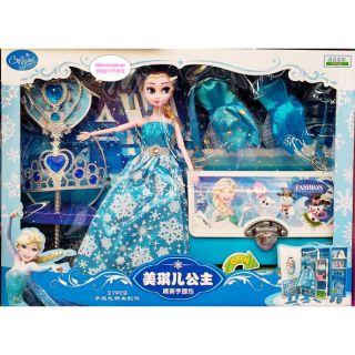 Búp bê Elsa kèm phụ kiện và vali tủ đồ